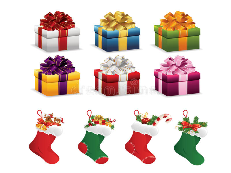 Weihnachtsgeschenk vektor abbildung