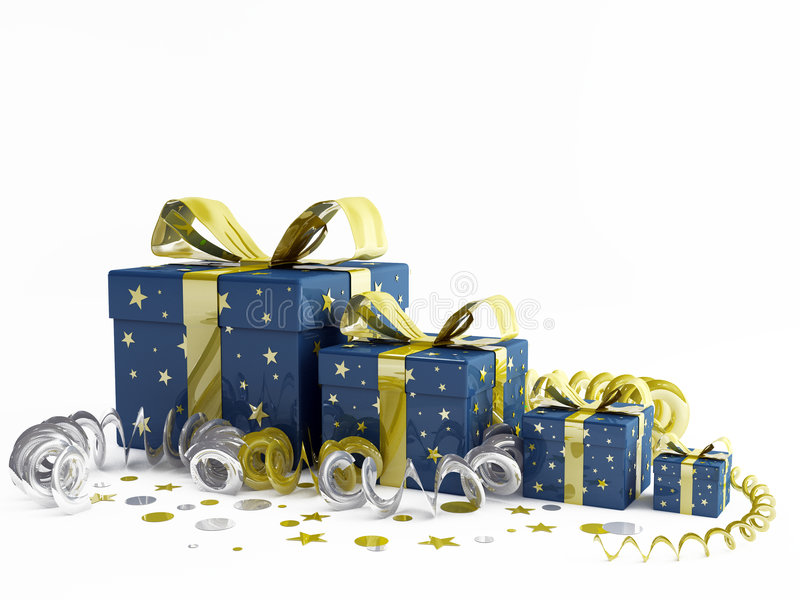 Weihnachtsgeschenk lizenzfreie abbildung