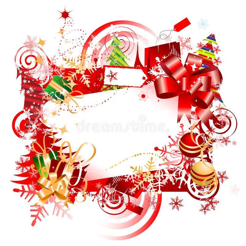 Weihnachtsgeschenk, Feld stock abbildung