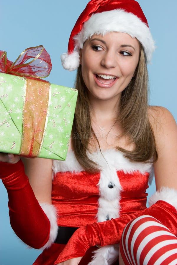 Weihnachtsgeschenk-Frau stockfotografie