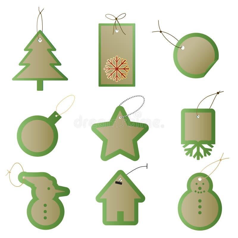 Weihnachtsgeschenk-Geschenkmarken stock abbildung