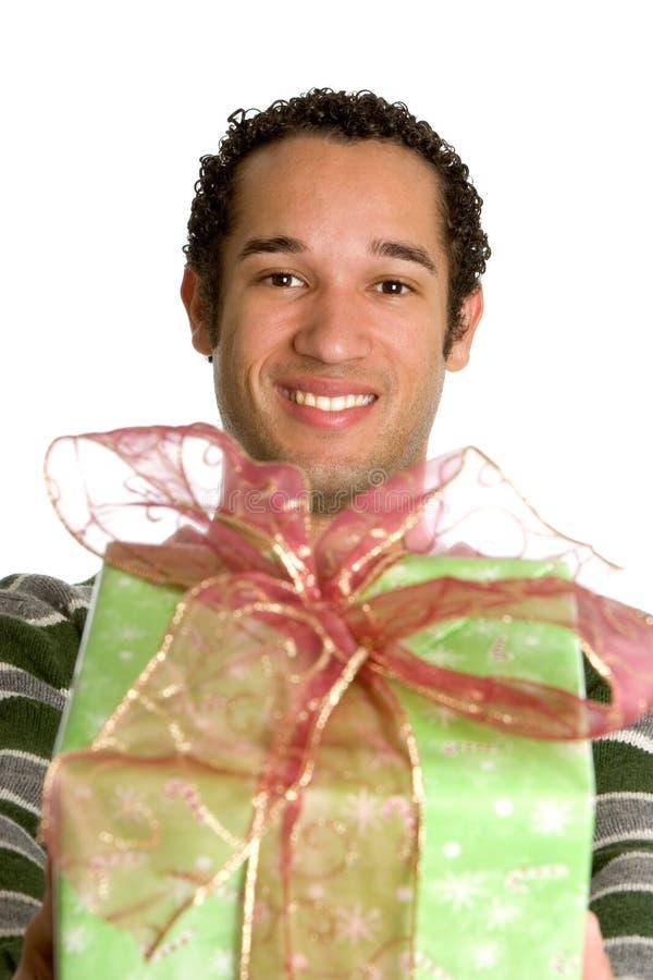 Weihnachtsgeschenk-Junge lizenzfreie stockfotografie