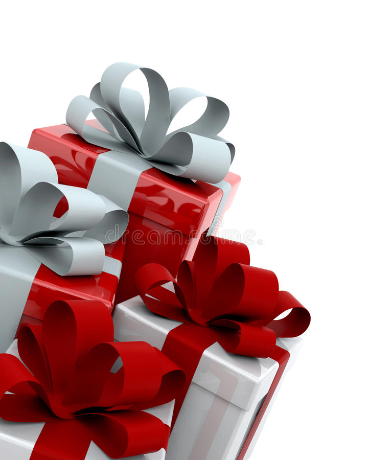 Weihnachtsgeschenk-Kästen lizenzfreie abbildung