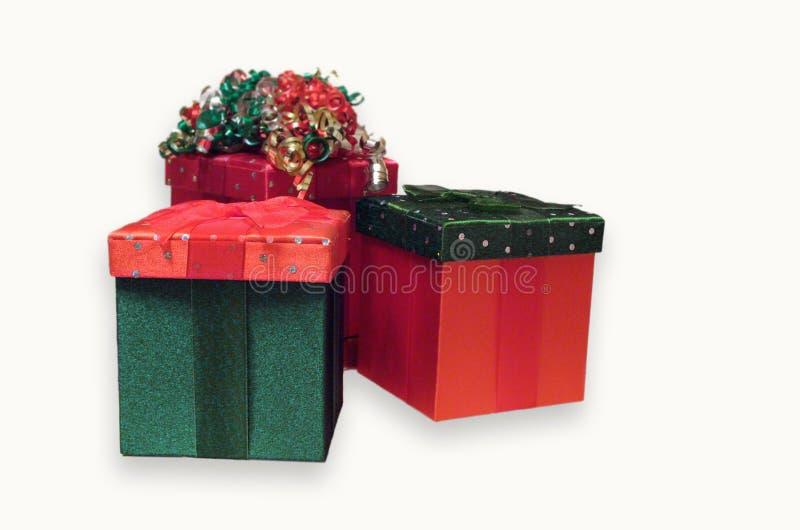 Weihnachtsgeschenk-Kästen lizenzfreie stockfotografie
