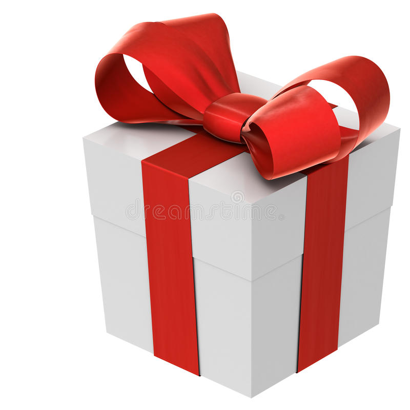 Weihnachtsgeschenk (Kasten) mit Bogen lizenzfreie abbildung