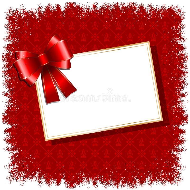 Weihnachtsgeschenk-Kennsatzhintergrund lizenzfreie abbildung