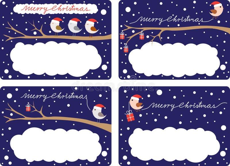 Weihnachtsgeschenk-Marken lizenzfreie abbildung