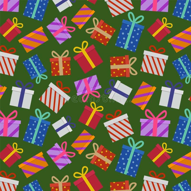 Weihnachtsgeschenk-Muster stockfotografie