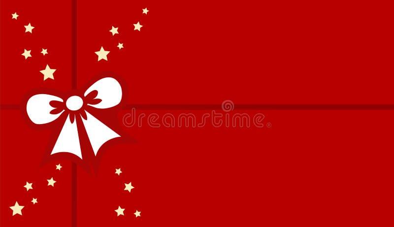 Weihnachtsgeschenk oder -geschenk mit Bogen über rotem Hintergrund Sauberes Design des Vektors vektor abbildung