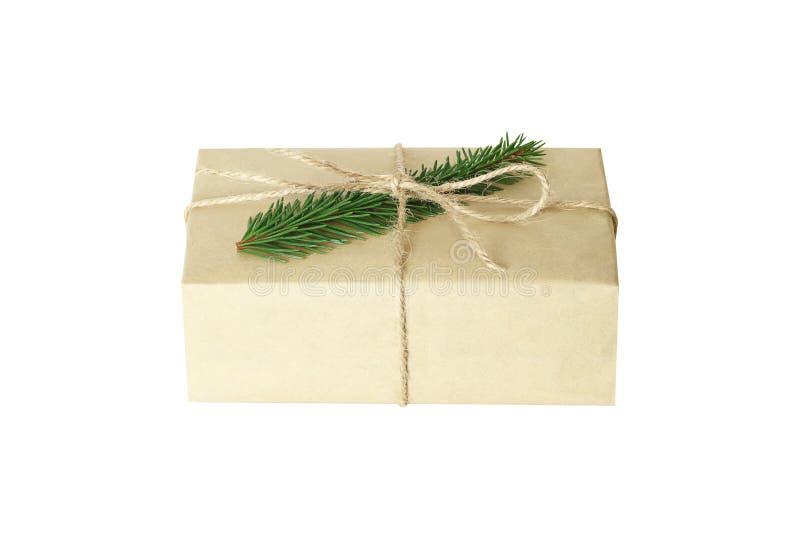 Weihnachtsgeschenk oder Geschenkbox lokalisiert lizenzfreie stockfotografie