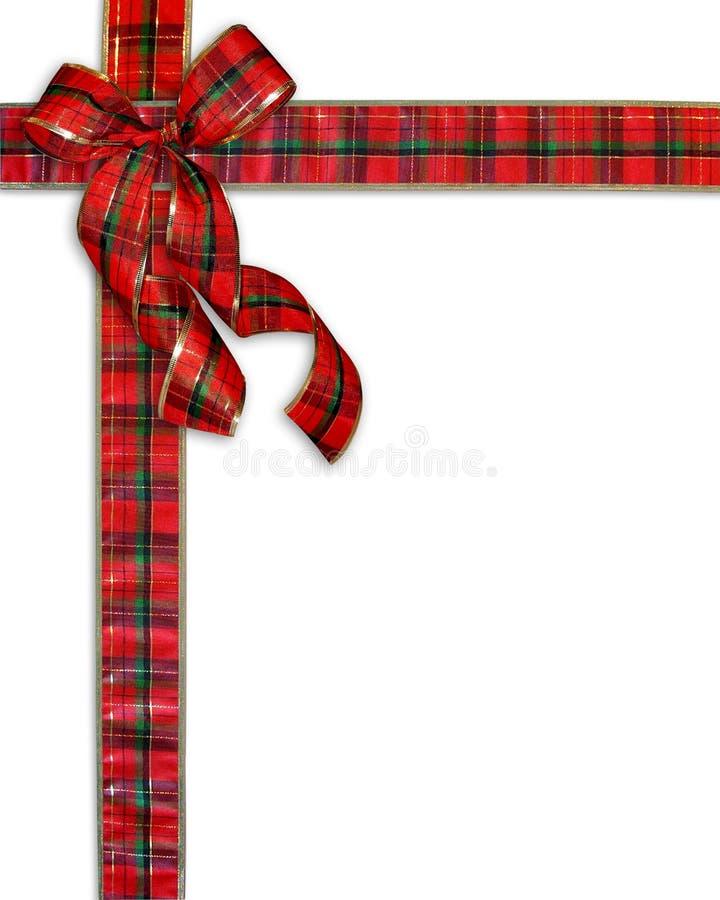 Weihnachtsgeschenk-Plaid-Bogen-Hintergrund lizenzfreie abbildung