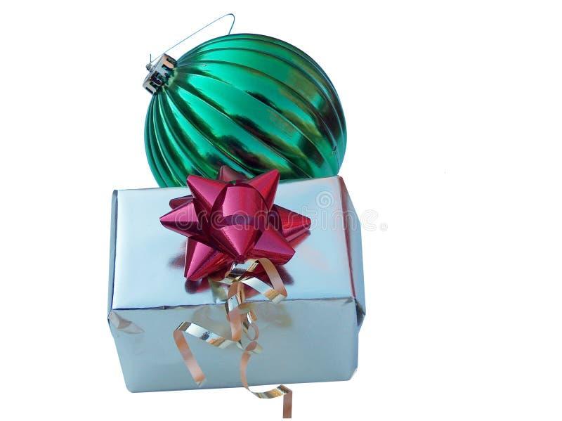 Weihnachtsgeschenk und -verzierung lizenzfreies stockfoto
