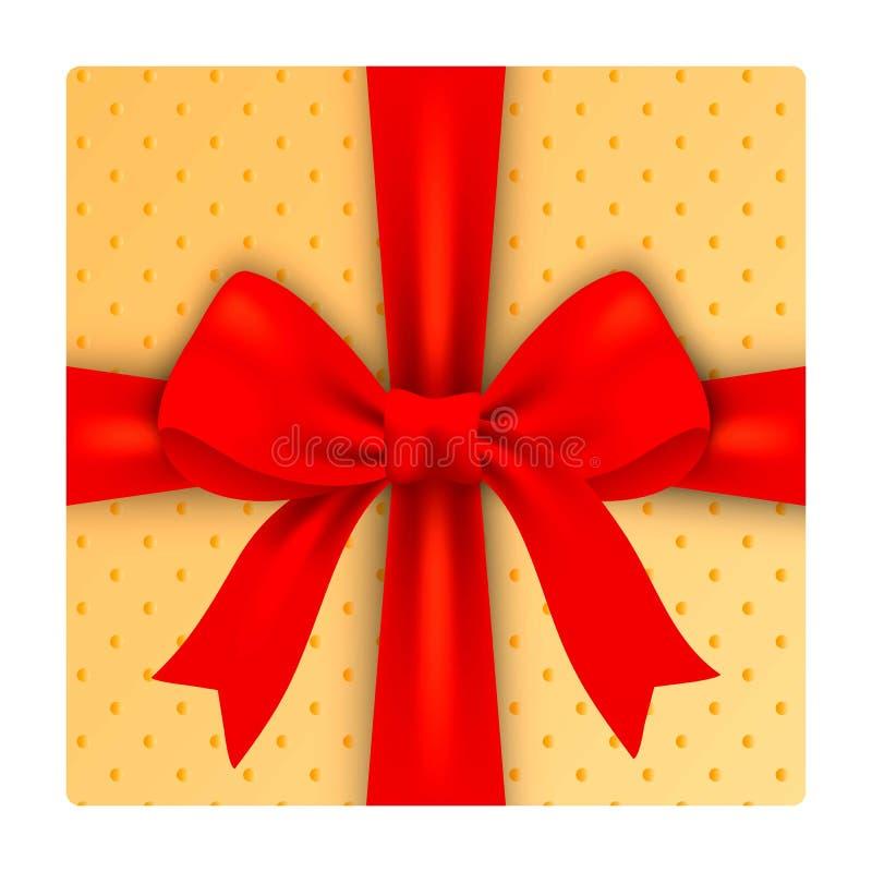 Weihnachtsgeschenkboxikone, realistische Art lizenzfreie abbildung