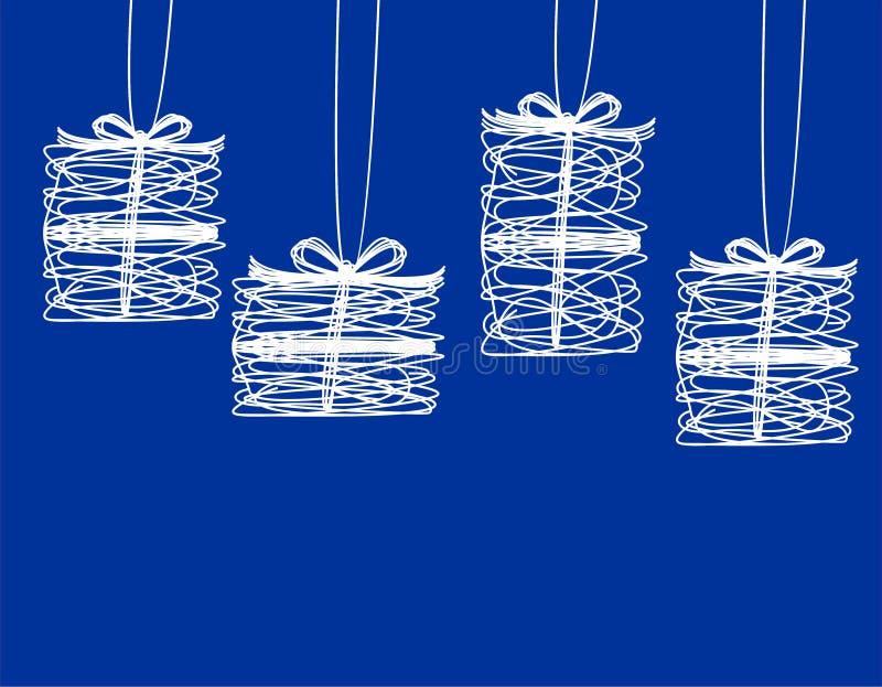 Download Weihnachtsgeschenke vektor abbildung. Illustration von dekorativ - 26373875