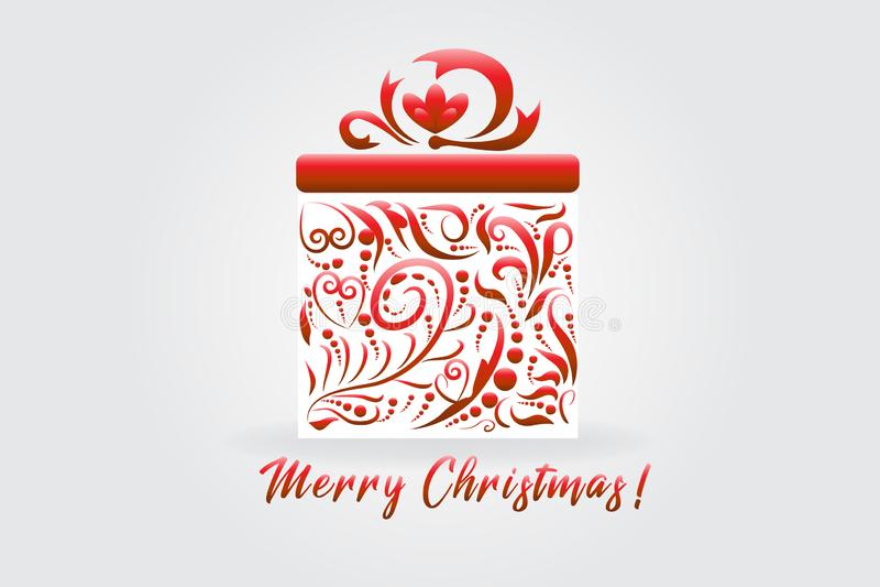Weihnachtsgeschenkgeschenkbox stock abbildung