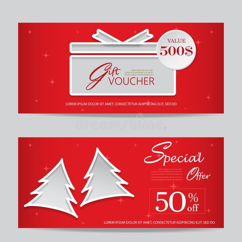 Weihnachtsgeschenkgutschein lizenzfreie abbildung