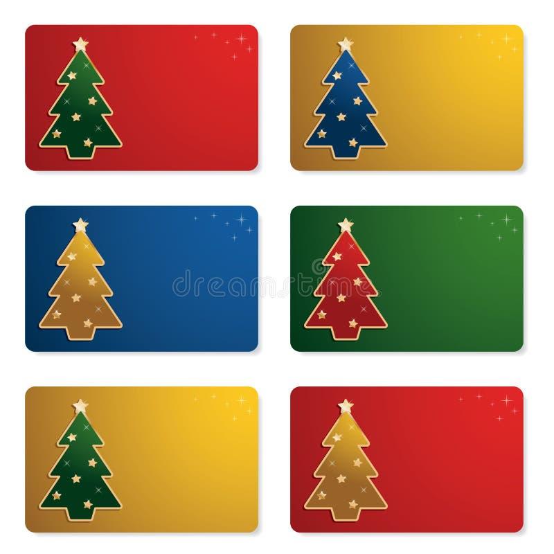 Weihnachtsgeschenkkarten stock abbildung