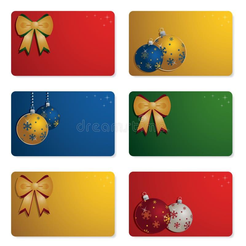 Weihnachtsgeschenkkarten lizenzfreie abbildung
