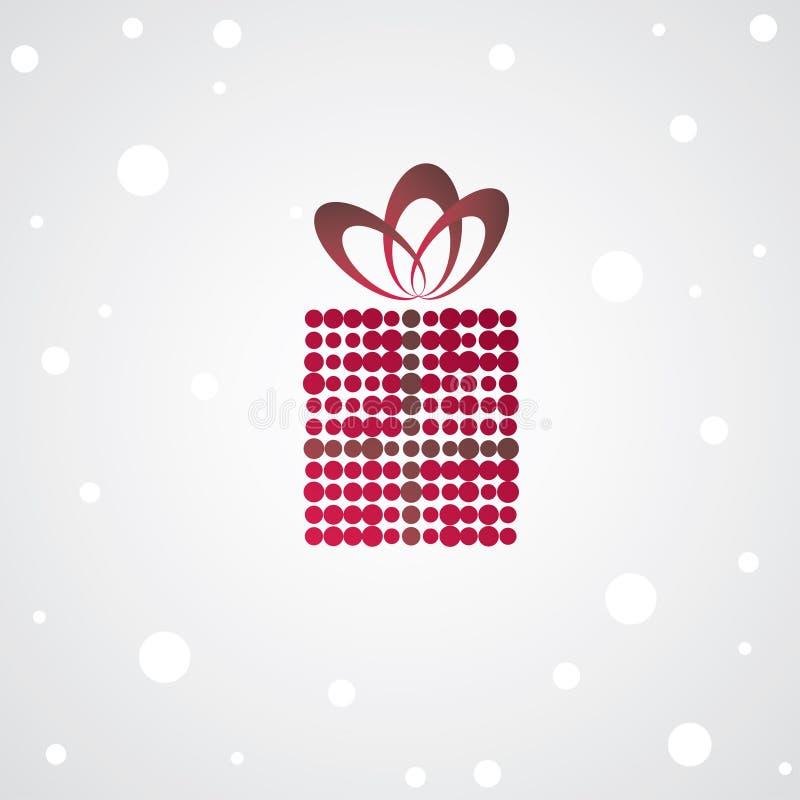 Weihnachtsgeschenkkasten. lizenzfreie abbildung