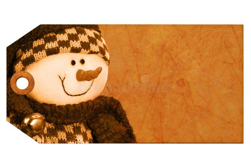 Weihnachtsgeschenkmarke lizenzfreie stockbilder