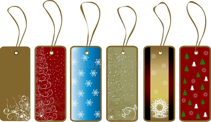 Weihnachtsgeschenkmarken stock abbildung