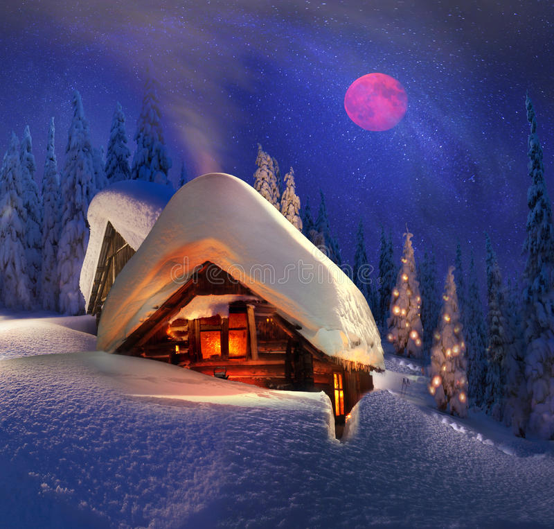 Weihnachtsgeschichte für Bergsteiger stockfoto