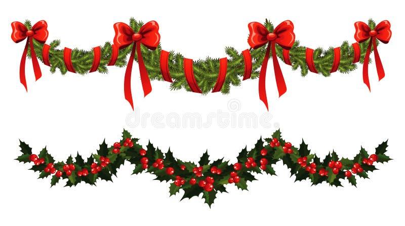 Weihnachtsgirlande lizenzfreie abbildung