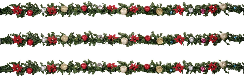 Weihnachtsgirlande stockfoto