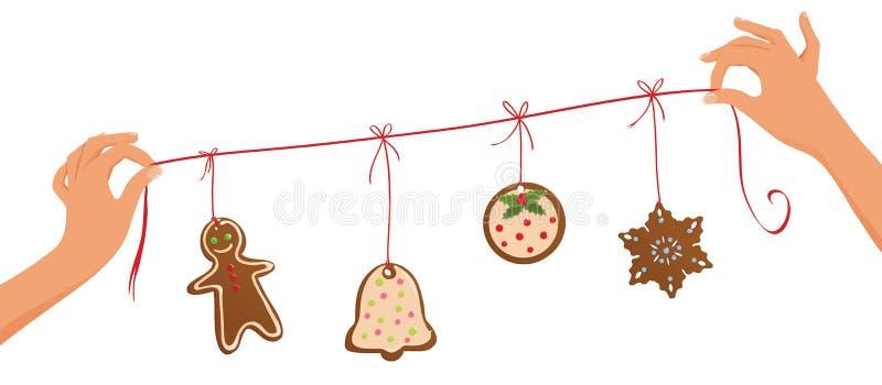 Weihnachtsgirlande stock abbildung