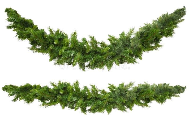 Weihnachtsgirlanden lizenzfreies stockfoto