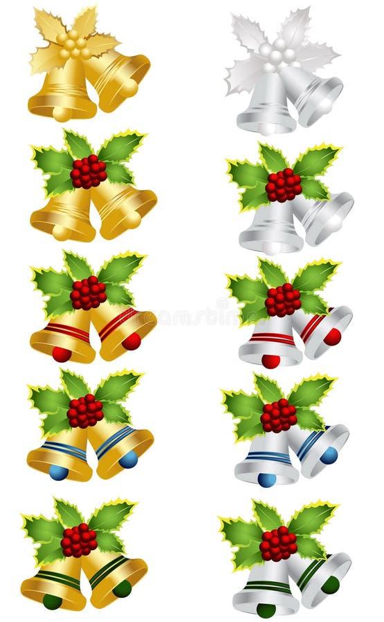 Weihnachtsglocke stock abbildung