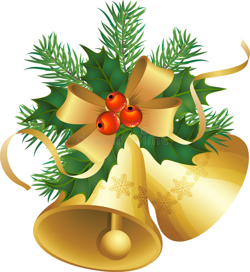 Weihnachtsglocken stock abbildung