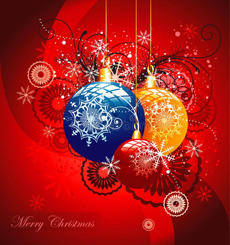 Weihnachtsglockenabbildung stock abbildung