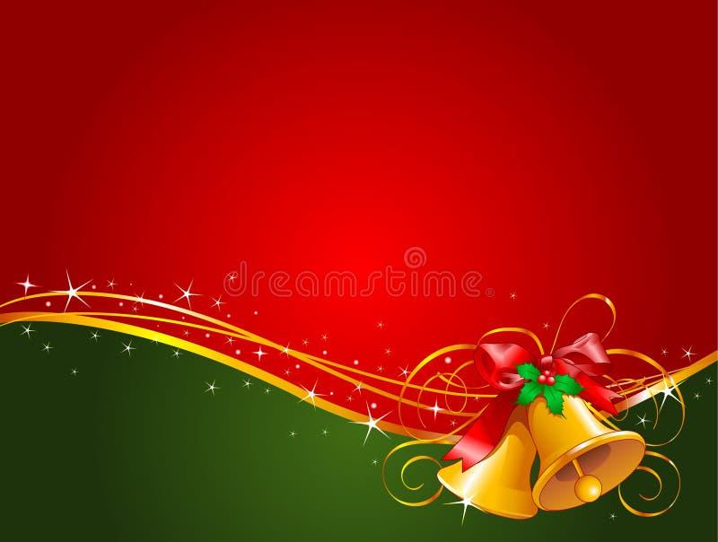 Weihnachtsglockenhintergrund stock abbildung