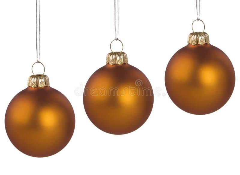 Weihnachtsgoldene Kugeln lizenzfreie stockfotografie