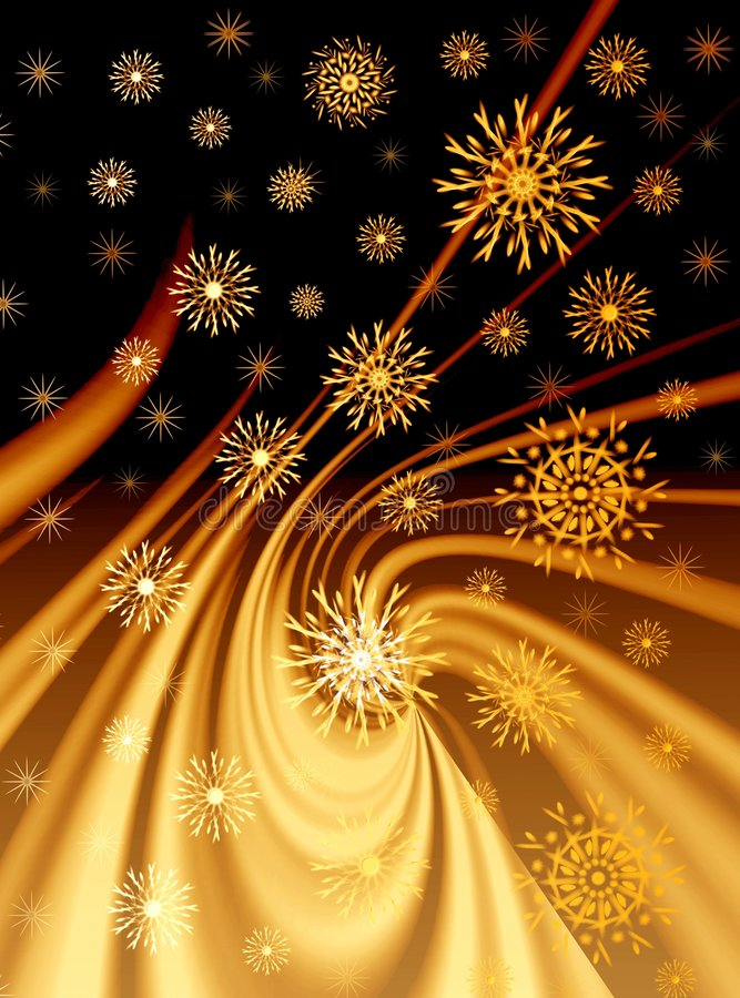 Weihnachtsgoldener Hintergrund vektor abbildung