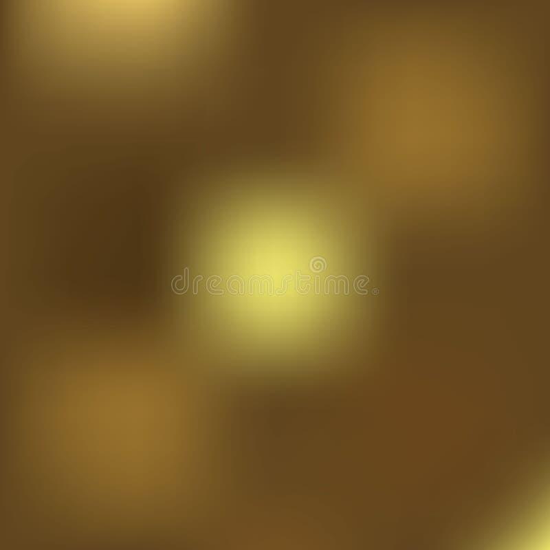 Weihnachtsgoldener Hintergrund Neues Jahr des Goldfeiertags Defocused Hintergrund Universalschablone für Grußkarte, Webseite, Hin vektor abbildung