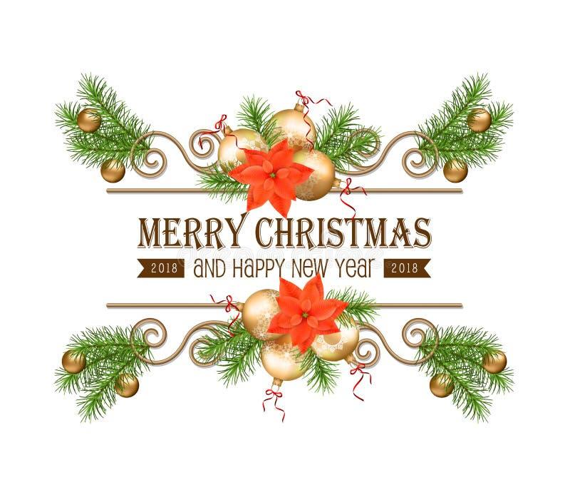 Weihnachtsgoldgrenze lizenzfreie abbildung