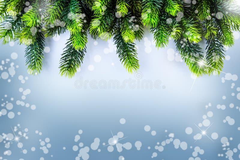 Weihnachtsgrenzdesign Weihnachtsmann auf einem Schlitten stock abbildung