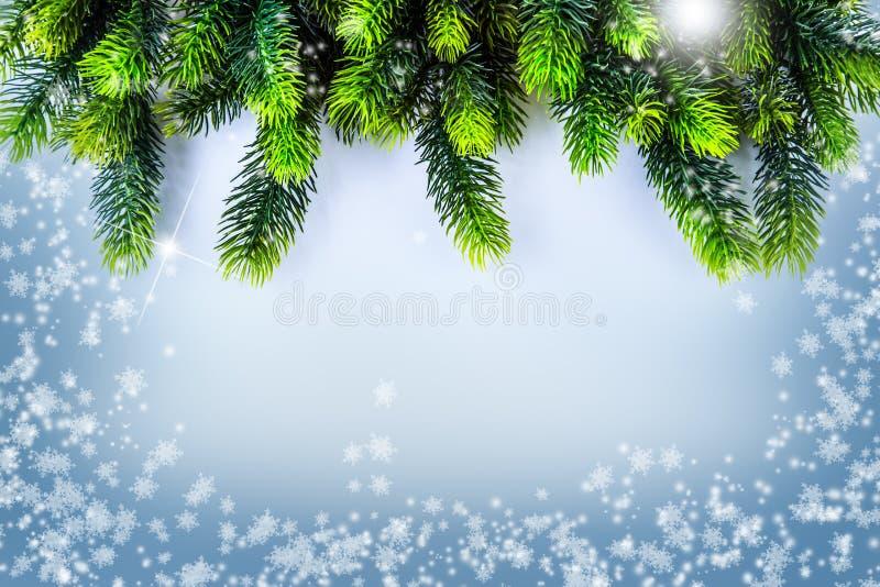 Weihnachtsgrenzdesign Weihnachtsmann auf einem Schlitten lizenzfreie abbildung