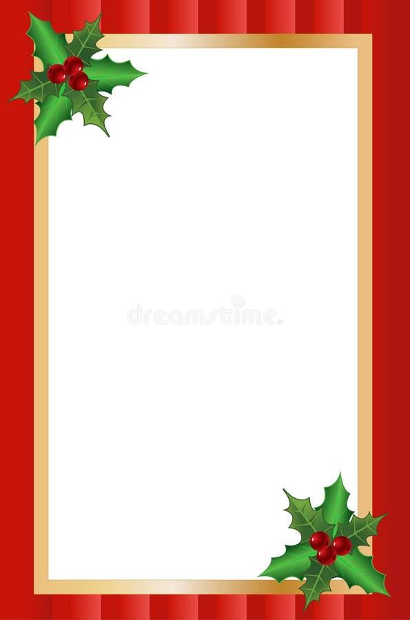 Weihnachtsgrenze stock abbildung