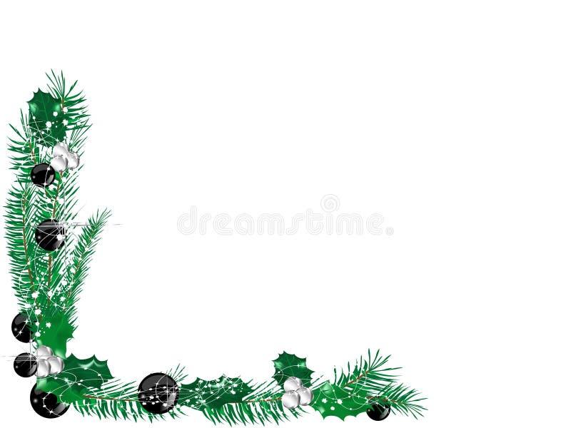 Weihnachtsgrenze lizenzfreie abbildung