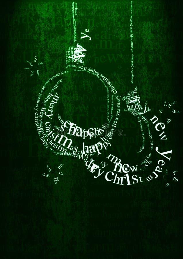 Weihnachtsgruß stock abbildung