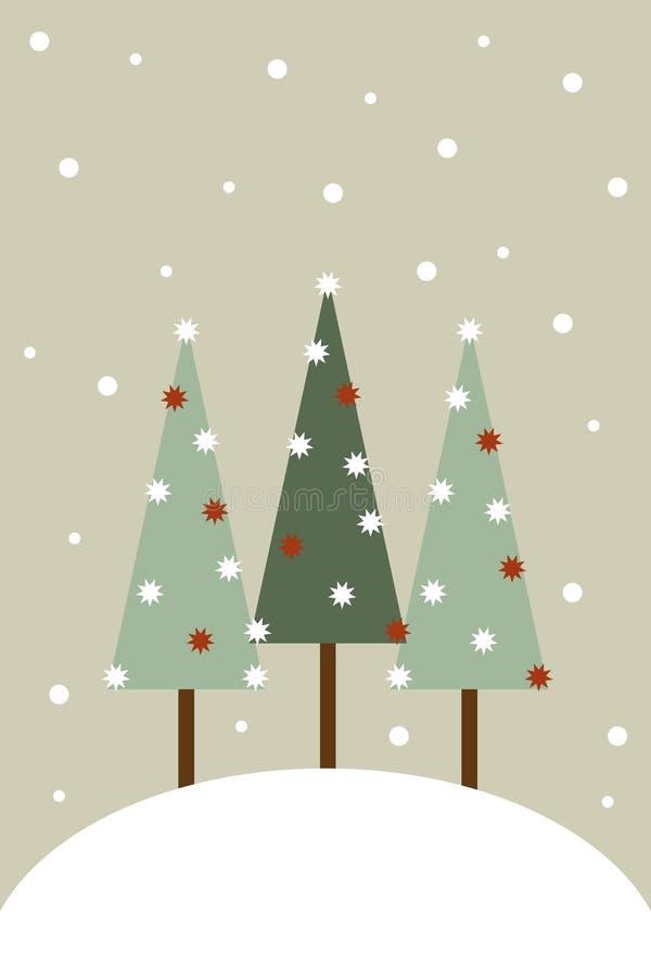Weihnachtsgrußkarte lizenzfreie abbildung