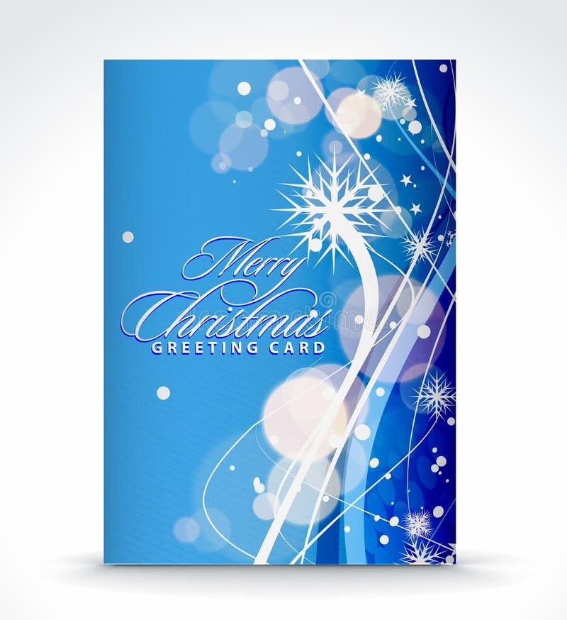 Weihnachtsgrußkarte vektor abbildung