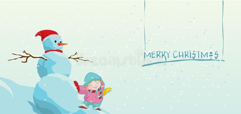 Download Weihnachtsgrußkarte stock abbildung. Illustration von blau - 26374171