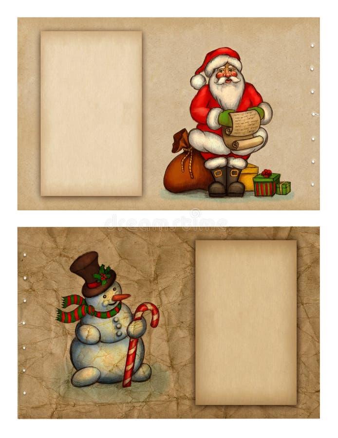 Weihnachtsgrußkarten stock abbildung