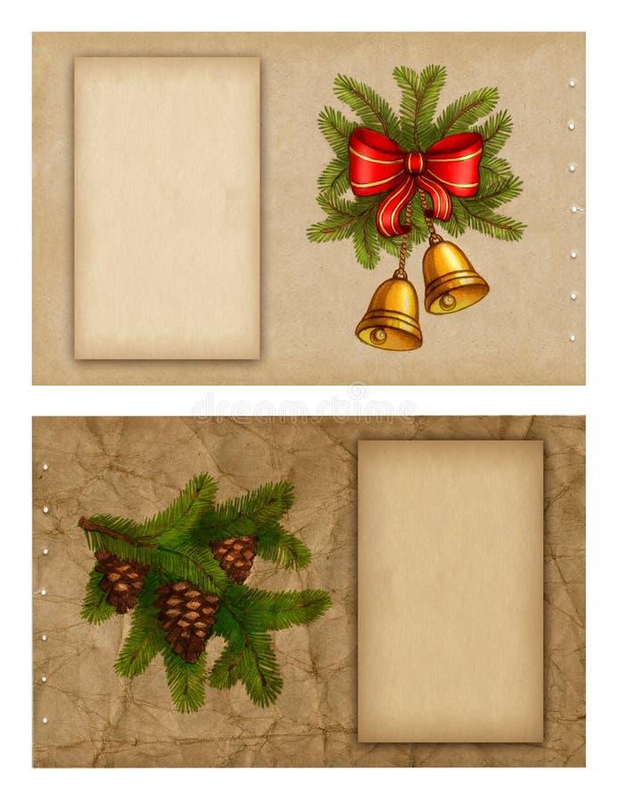 Weihnachtsgrußkarten lizenzfreie abbildung