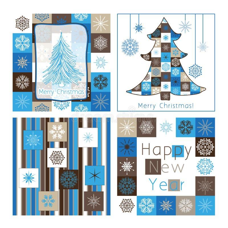 Weihnachtsgrußkarten - Kompilation Von Auto Vier Lizenzfreies Stockbild