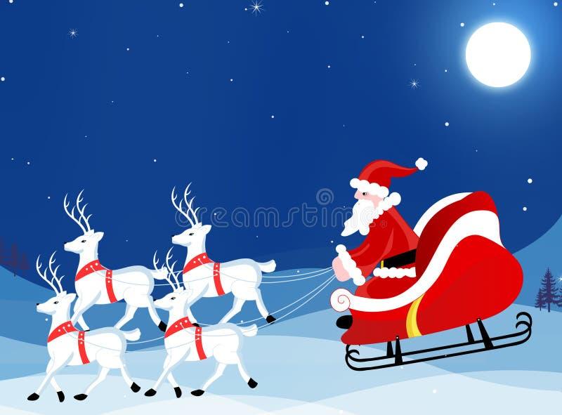 Weihnachtsgrußkartentapete lizenzfreie abbildung